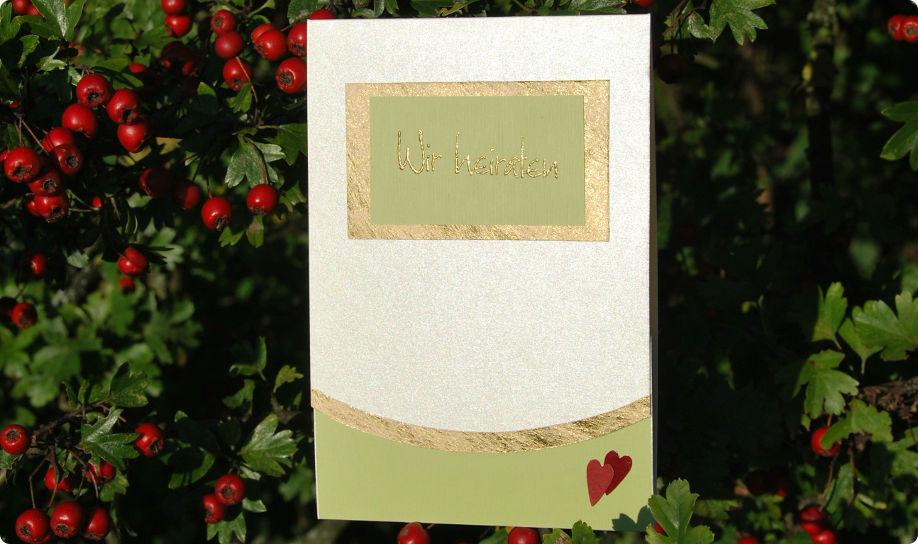 Beispiel: Einladung, Foto: Cardlove.de.
