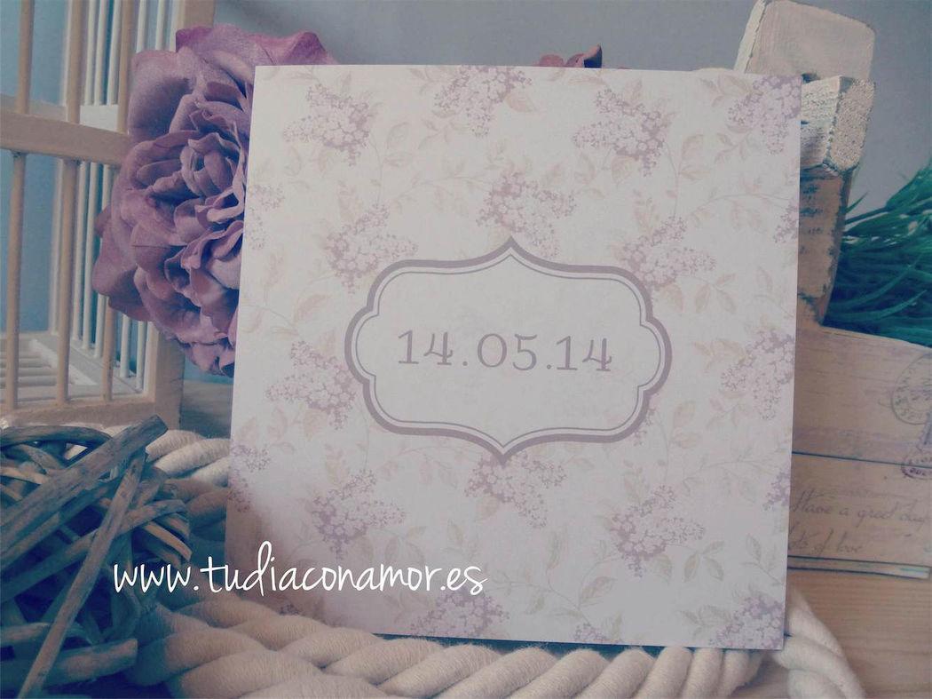 Invitación de boda vintage rústica