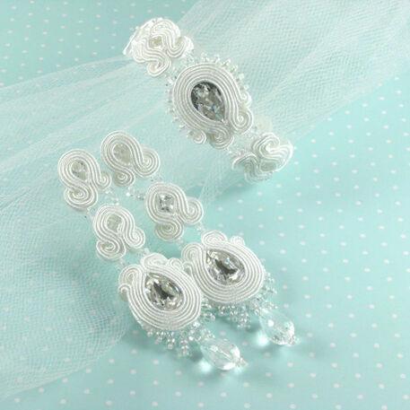 Małgorzata Sowa - PiLLow Design, Biżuteria ślubna sutasz. Komples ślubny - kryształ górski, cyrkonie, srebro