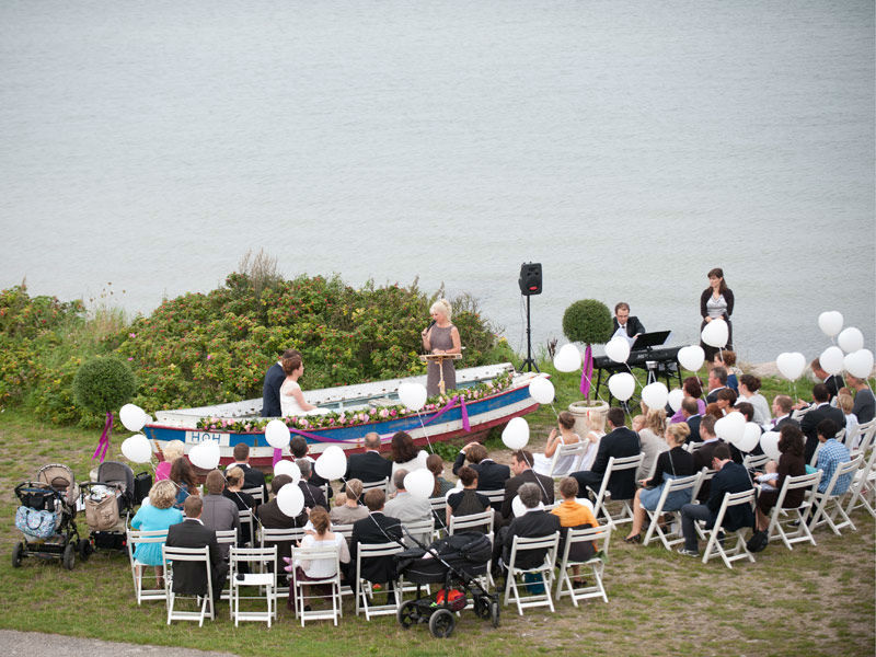 Beispiel: Individuelle Trauungszeremonie, Foto: Andrea Junk-Schnoor.
