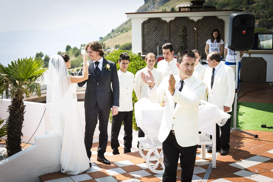 Grand Hotel Pianeta Maratea - il saluto agli sposi    - photo: http://www.ndphoto.it/