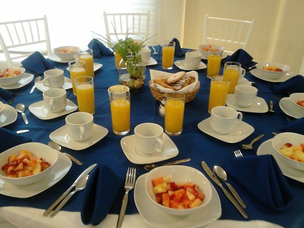 montaje para desayuno