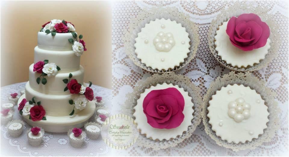 Torta Rosas Fucsias