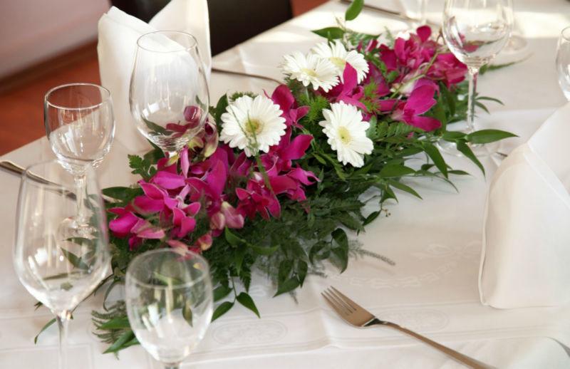 Beispiel: Florale Dekoration, Foto: La Villa Henkenberg.