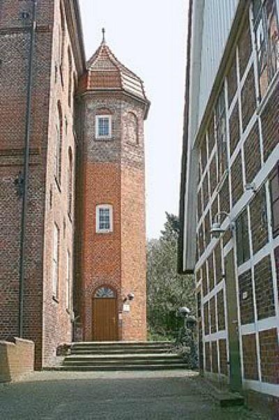 Beispiel: Aussenansicht - Achteckiger Treppenturm, Foto: Schloss Agathenburg.