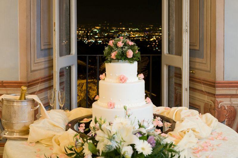 Park Hotel Villa Grazioli: Torta nunziale nel salone dei Putti