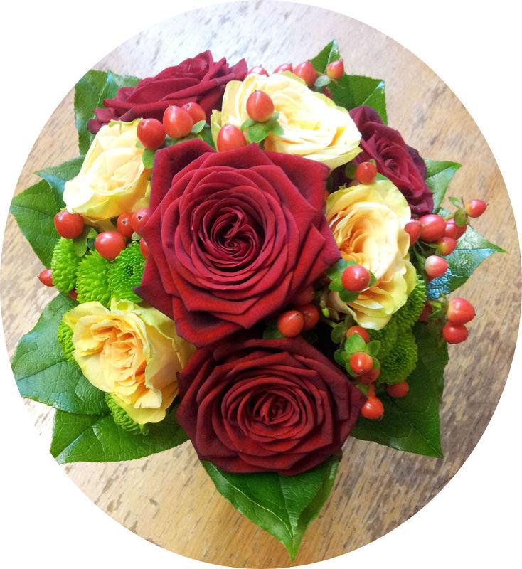 Beispiel: Der Strauß für ihre Hochzeit, Foto: Blumen Reichert.