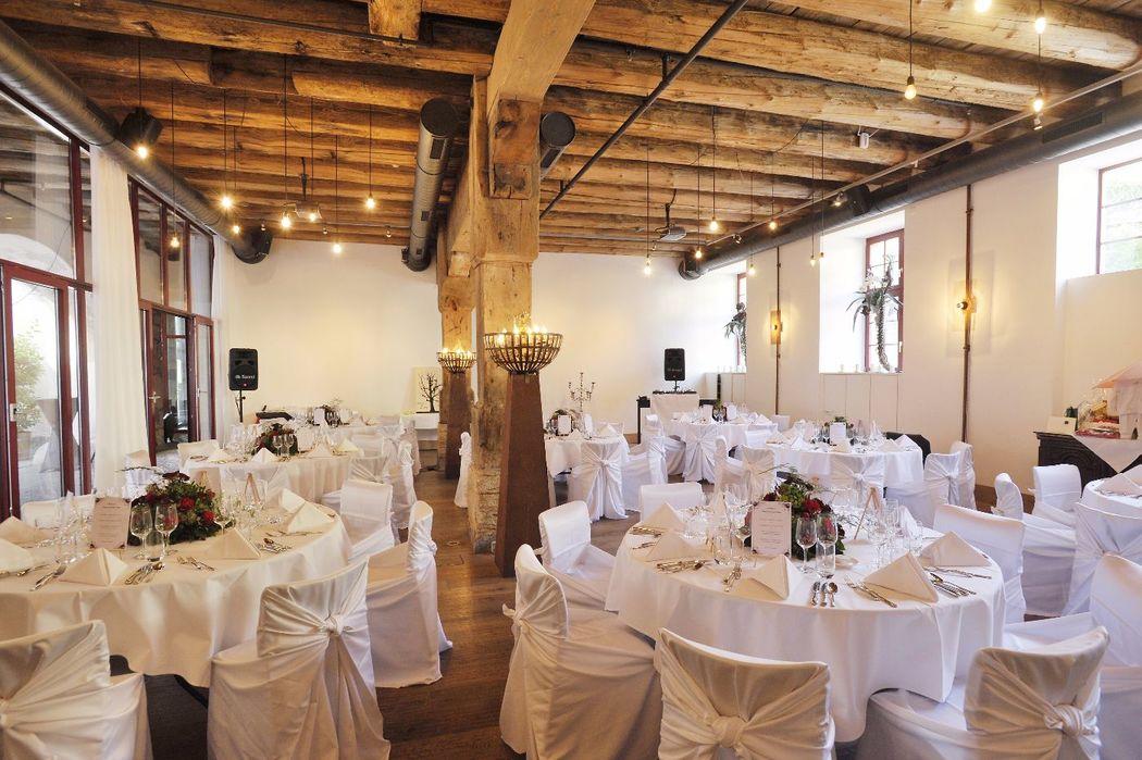 Bankettsaal mit Beamerwand