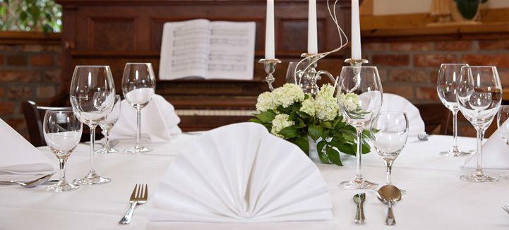 Beispiel: Tischdekoration, Foto: Landhof Liepe.