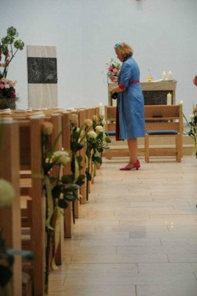 Beispiel: Hochzeitsfloristik, Foto: Blumen Hahn.