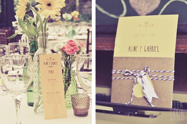 Papelaria Criativa para Aline + Gabriel