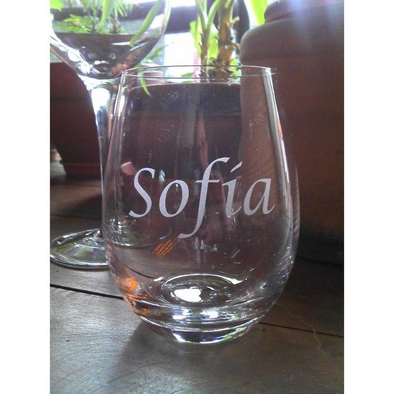 Copa de vino Tallada.