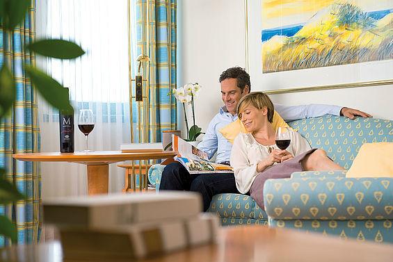 Beispiel: Gemütliche Zimmer, Foto: Travel Charme Bernstein Prerow.