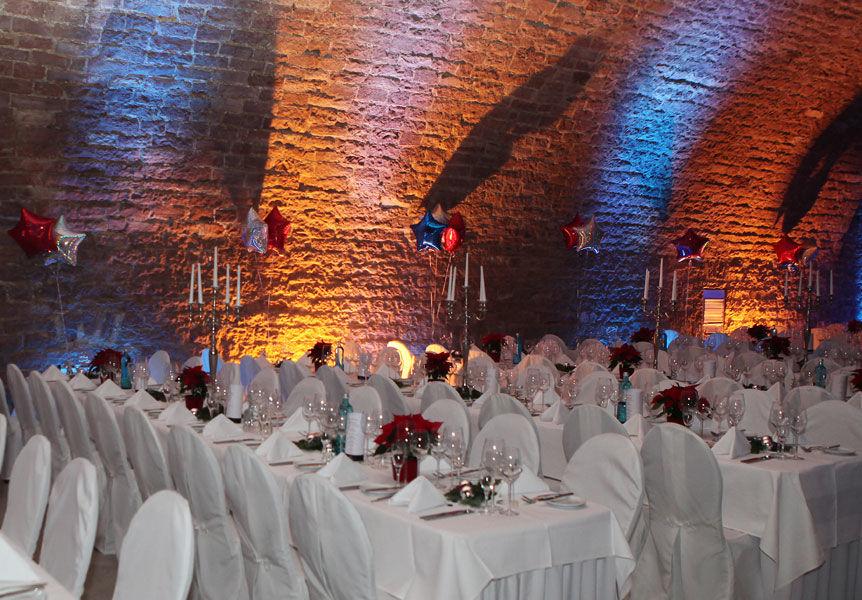 Beispiel: Eventdekoration, Foto: Alte Weinfabrik.