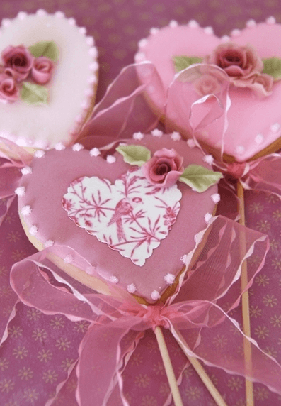 Cookie Corazones Vintage Románticas cookies