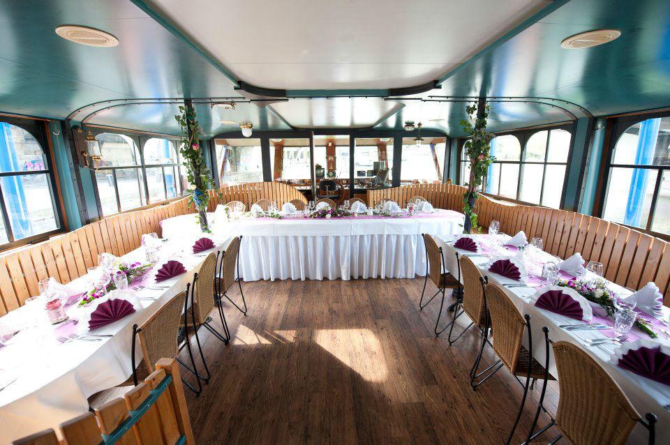 Beispiel: Ihre Hochzeitstafel, Foto: DDSG Blue Danube.