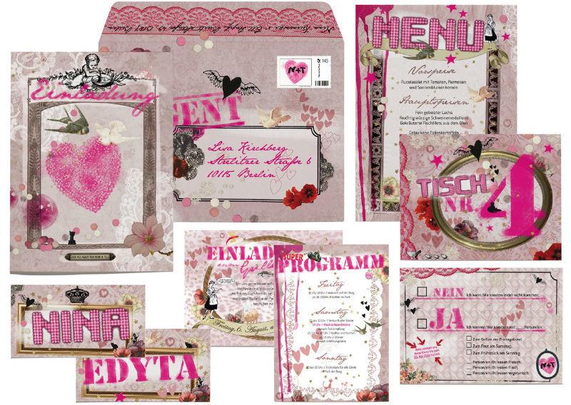 Paper Couture Hochzeitskarten im Collage-Stil, Foto: Paper & Soul.