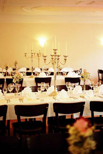 Beispiel: Hochzeitssaal - Bankett, Foto: Schloss Blumenthal.