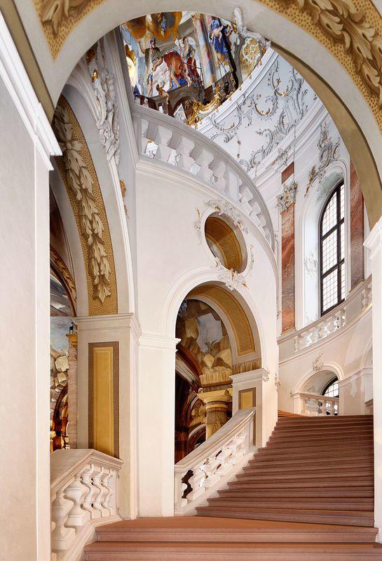 Beispiel: Treppenhaus, Foto: Schloss Bruchsaal.