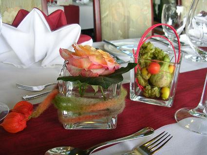 Beispiel: Tischdekoration, Foto: AKZENT Hotel Löwen.