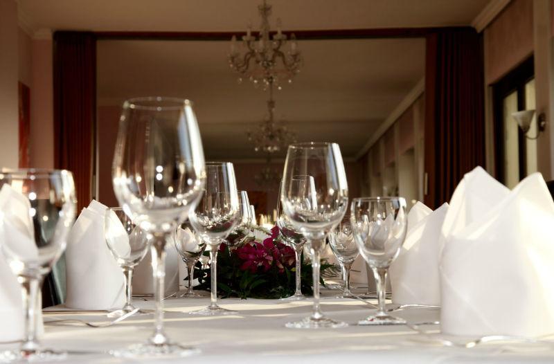 Beispiel: Tischdekoration, Foto: La Villa Henkenberg.