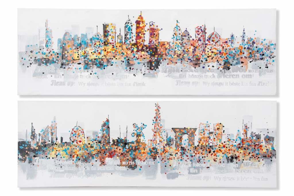 Cuadros abstractos y de ciudades  Goyart