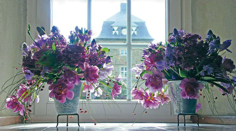 Beispiel: Blumen im Schloss, Foto: Wasserschloss Lembeck.
