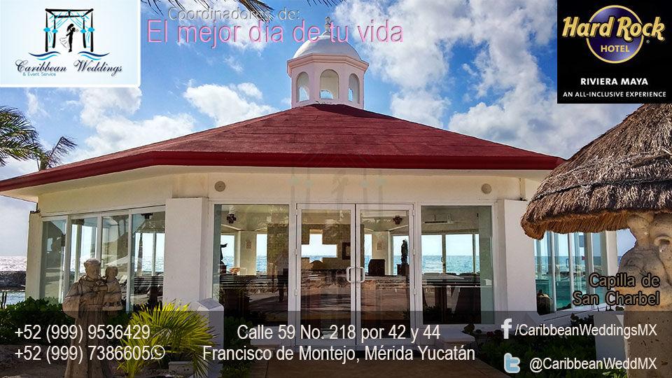 Tu boda en Hard Rock Hotel Riviera, capilla certificada de San Charbel. Cásate en la playa EL MEJOR DÍA DE TU VIDA !!!  Más información: Tel +52 999 953 64 29 Cel +52 999 738 66 05 (Whatsapp) Mail: garjona@caribbean-weddings.com.mx
