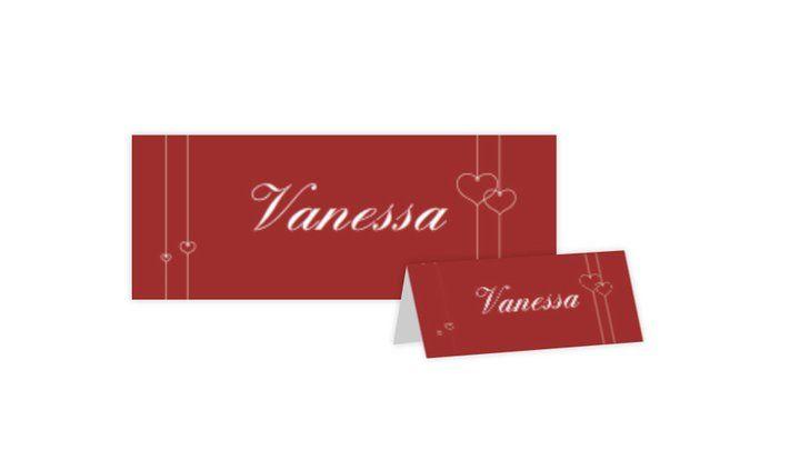 Beispiel: Tischkarten, Foto: Hochzeitskarten-Traum.