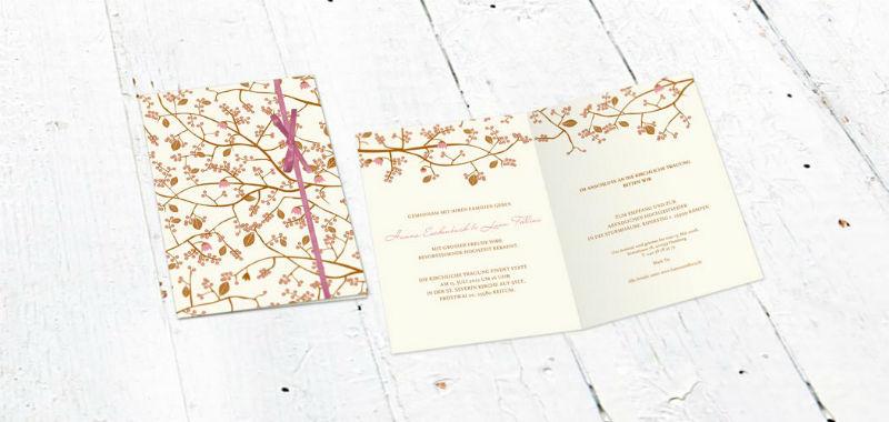 Beispiel: Hochzeitseinladung Kirschblüten, Foto: Paper Boutique.