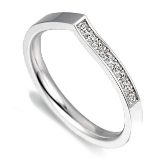 Verse Joaillerie | Alianças de Casamento, Anéis de Noivado Aliança de diamantes - VERANO. Aliança de casamento versão feminina de ouro branco 18k.
