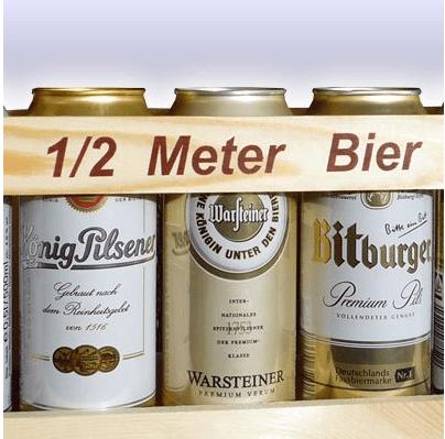 Beispiel: Geschenkartikel 1,5 Meter Bier,  Foto: Boystoys.