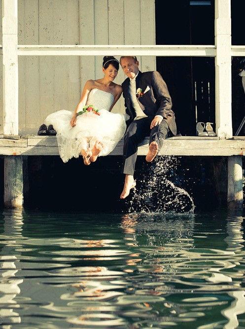 Beispiel: Glückliches Brautpaar, Foto: Hotel Werzer's.