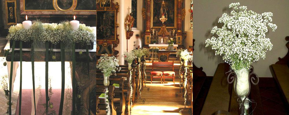 Beispiel: Kirchendekoration, Foto: Blumen Naturelle.