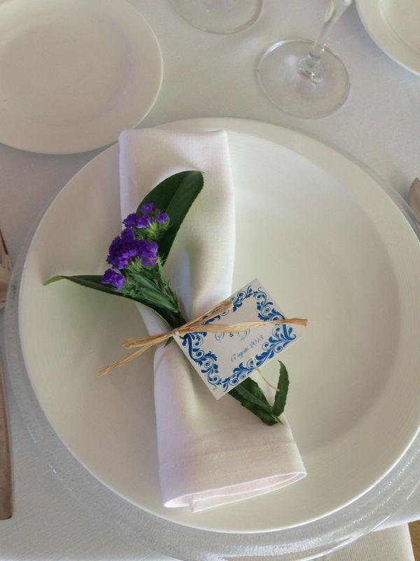 Detalle de flor para cada invitado