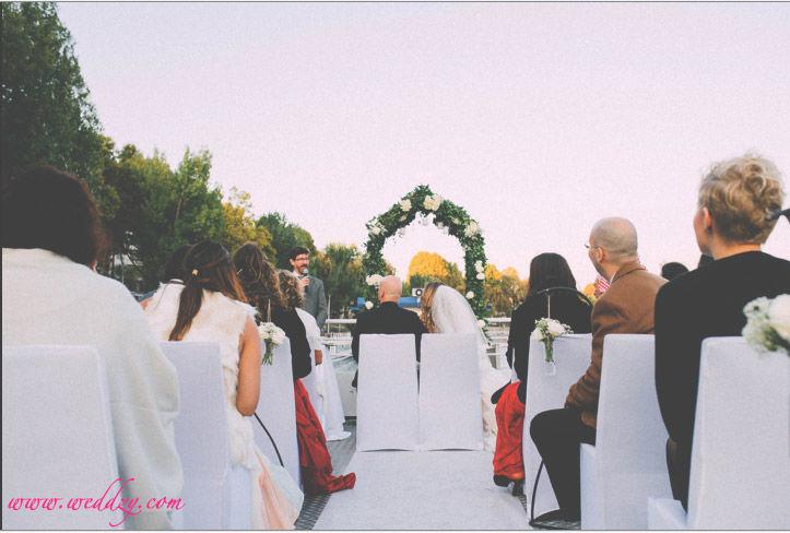 Mariage sur une péniche à Paris