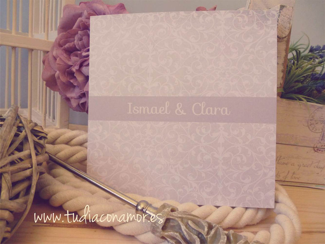 Invitación de boda clasica