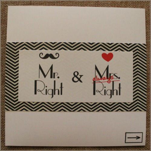 Beispiel: Hochzeitskarte, Foto: herzverbunden.