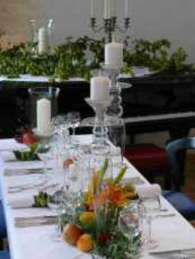 Beispiel: Tischdekoration, Foto: Domicil LEIDINGER.