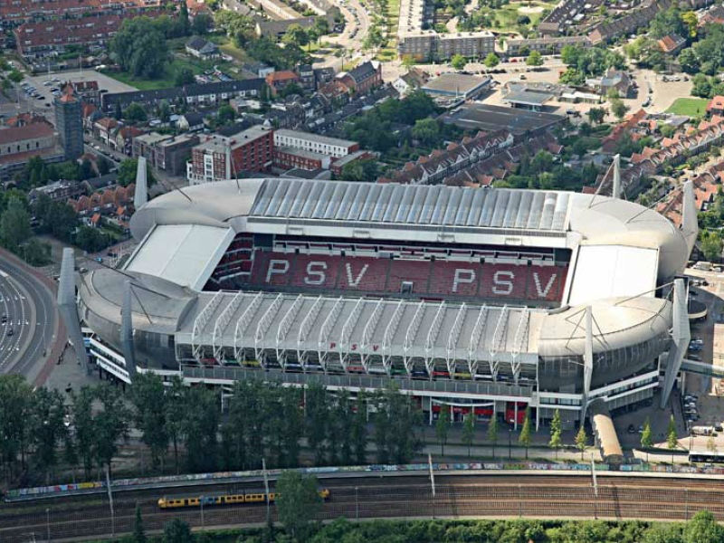 Bovenaanzicht Phillips stadion