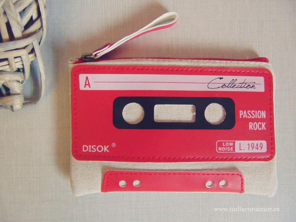 Detalle boda retro, portatodo cassette