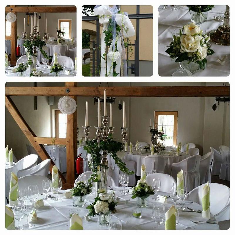 Beispiel: Hochzeitsdekoration, Foto: Blumenstube Babelsberg.