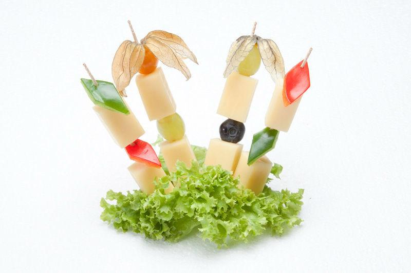 Beispiel: Käsespiesse, Foto: Lunchbox Catering & Event.