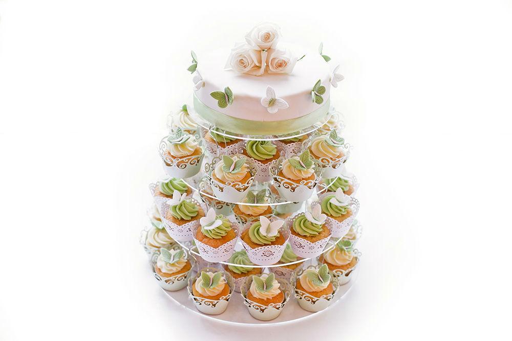 Beispiel: Ihre Cupcake-Hochzeitstorte, Foto: Cupcake Affair.