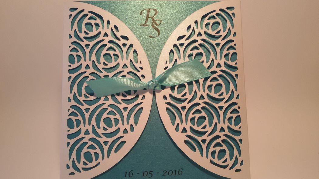 Partecipazione Nozze in carta pizzo art. 02