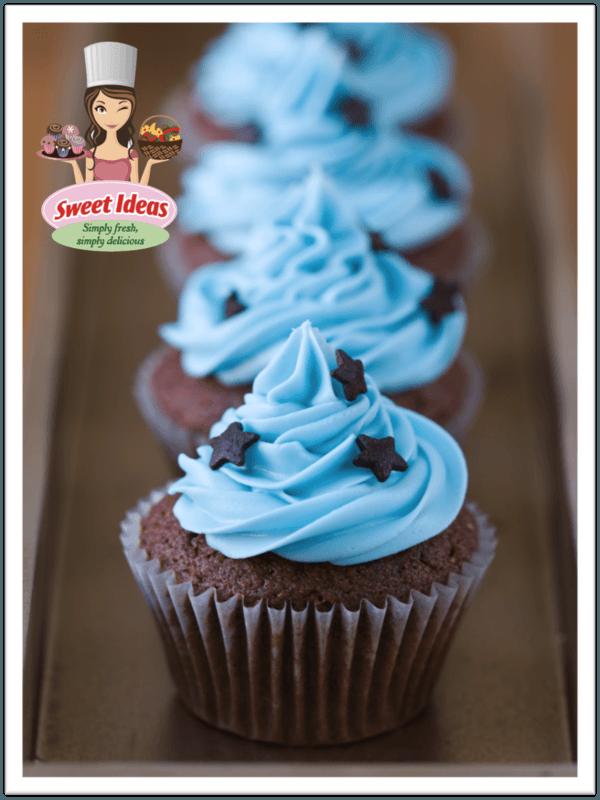 Cupcakes de buttercream azul