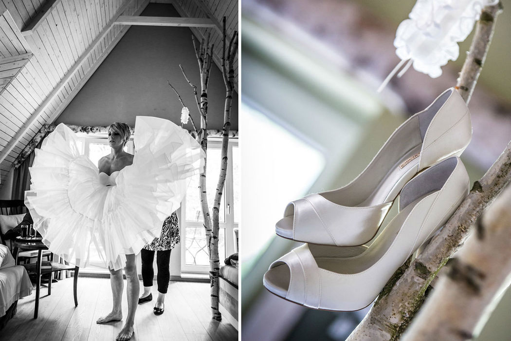 Getting ready Seeloge Kremmen, unvergessliche Hochzeitsreportagen