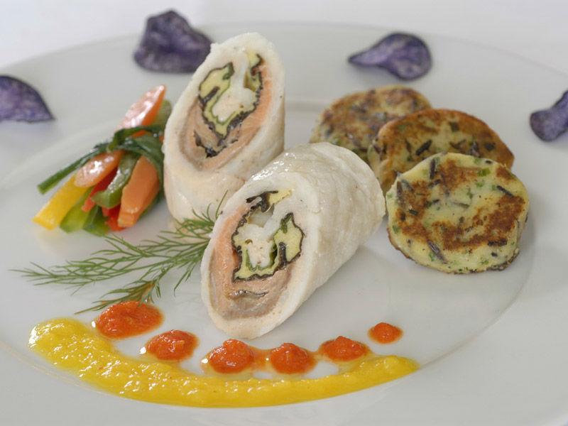 Beispiel: Einfallsreiche Menüs, Foto: Kaiserschote Feinkost Catering.