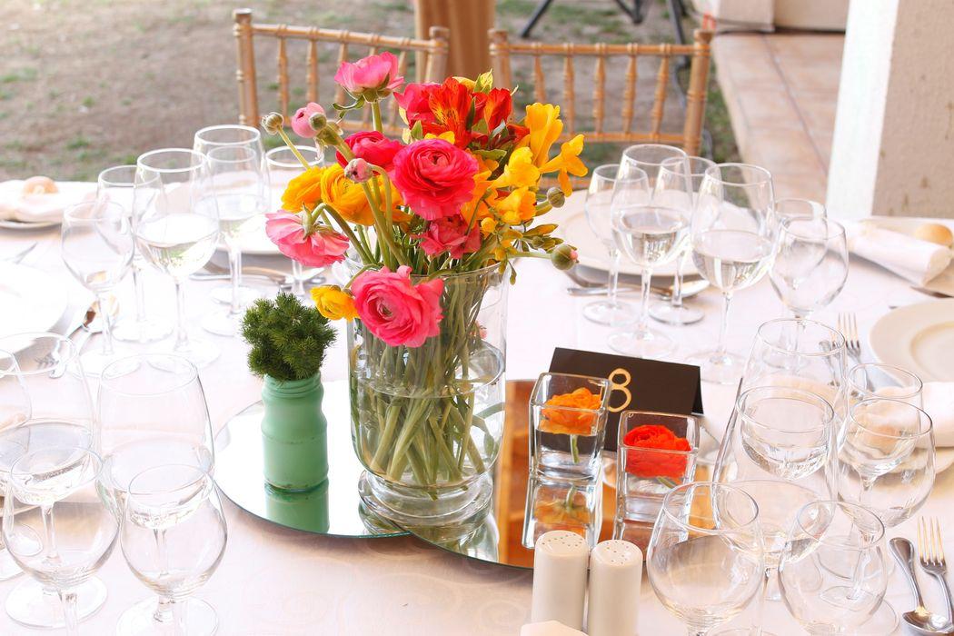 Centro de mesa Matrimonio Campestre