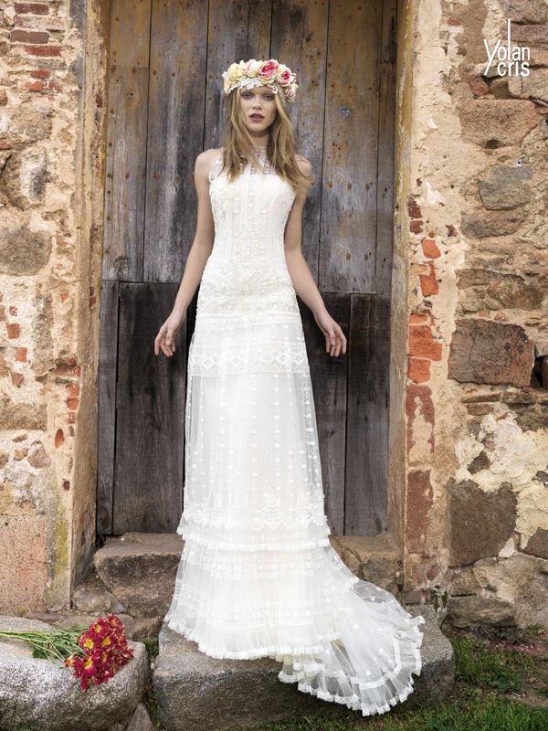 Vestido de novia de la colección Bohemia de YolanCris para Novias Pilar Gil.